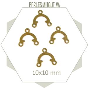 38 connecteurs bronze 10 mm