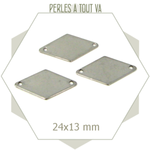 8 connecteurs losanges en acier inox 24 mm
