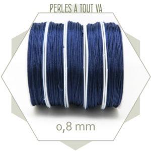20 m de cordon synthétique 0,8 mm bleu marine