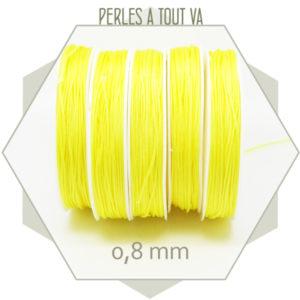 20 m de cordon synthétique 0,8 mm jaune