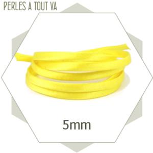 1 m de cordon  de soie jaune vif