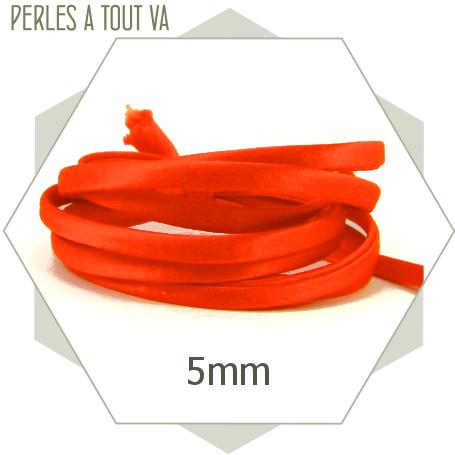 1 m de cordon de soie orange vif