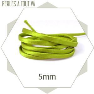 1 m de cordon  de soie vert clair