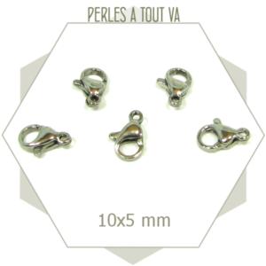 8 fermoirs mousquetons acier inox