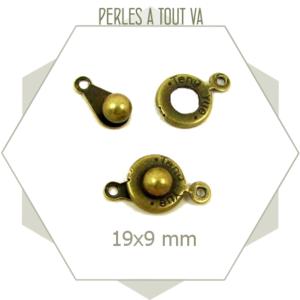 8 fermoirs clips bronze