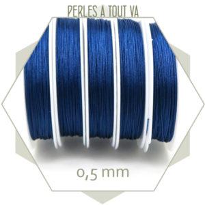 25 m de fil de jade bleu marine 0,5 mm