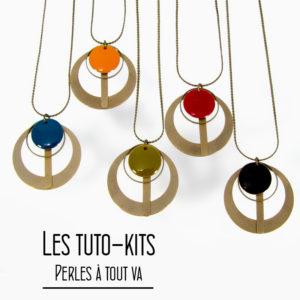 Kit collier pendentif Phi, tuto création bijoux
