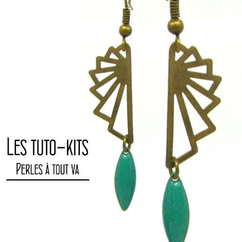 Kit boucles d'oreilles SLör, tuto bijoux, bijoux origami