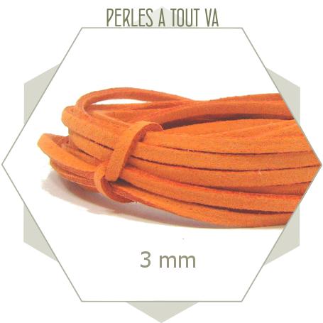5m lacet suédine imitation daim pêche 3mm, cordon suédine 3mm