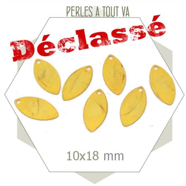 100 breloques navettes dorées DECLASSEES