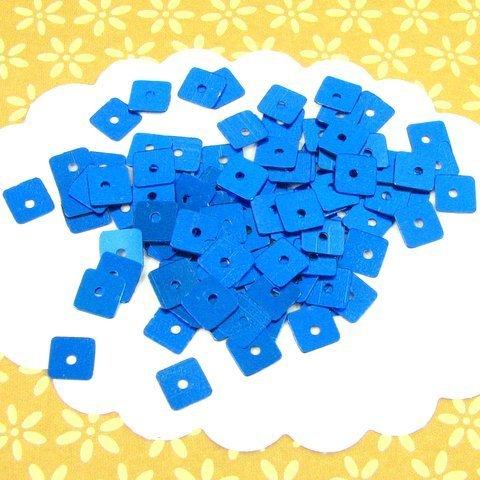 10g sequins paillettes carrées 5 mm bleues