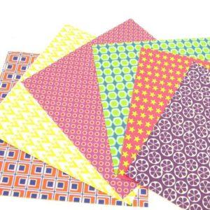 Papier origami de créateur 21 cm