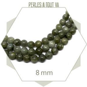 48 perles rondes 8 mm labradorite
