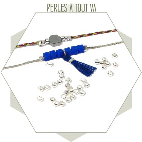 400 perles à écraser argent 1,7 mm