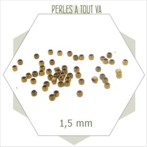 650 perles à écraser bronze 1,5 mm