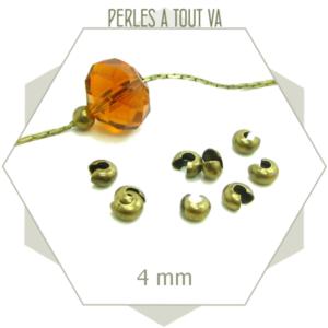 40 perles caches noeuds bronze