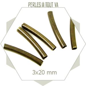 Tubes 20 mm couleur bronze pour accessoires vestimentaires