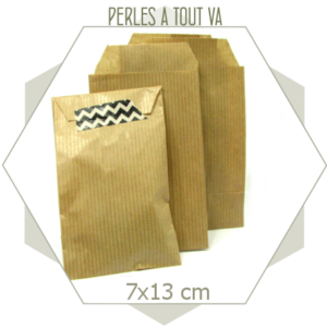 20 pochettes cadeaux papier kraft naturel