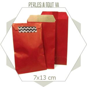 20 pochettes cadeaux papier kraft rouges