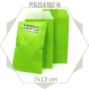20 pochettes cadeaux kraft vert vif
