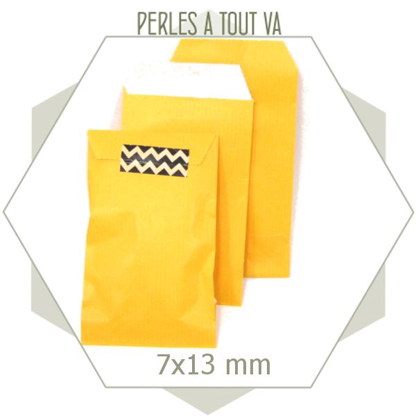 20 pochettes cadeaux kraft jaune
