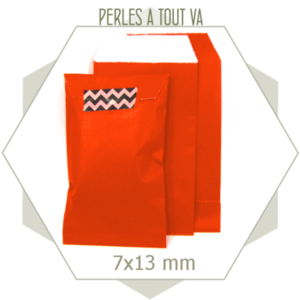 20 pochettes cadeaux kraft orange