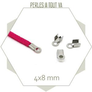 35 embouts 4 mm en acier inox