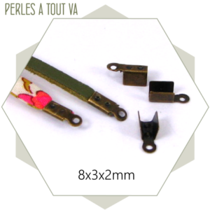 85 embouts de cordon bronze 2,5 mm