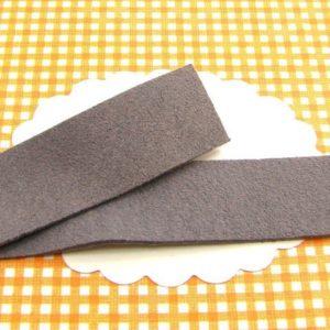 1m lanière suédine 20mm gris taupe