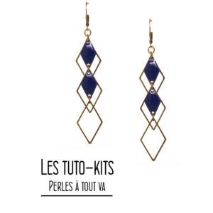 Kit boucles d'oreilles losange - Vente matériel création bijoux