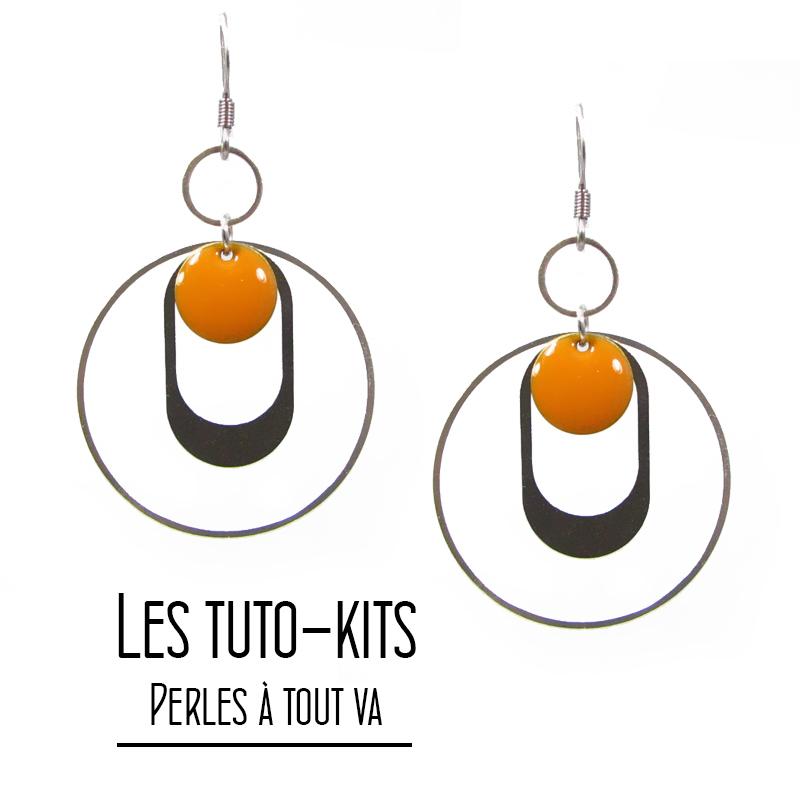 Kit boucles d'oreilles Paon, tutoriel création bijoux