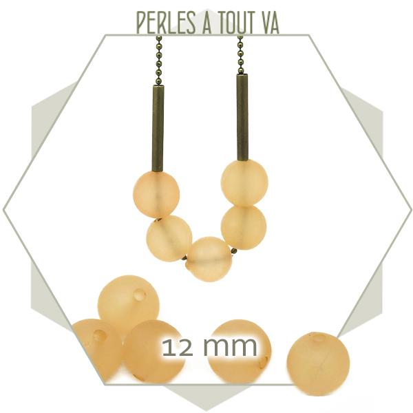 40 perles rondes 12 mm pêche