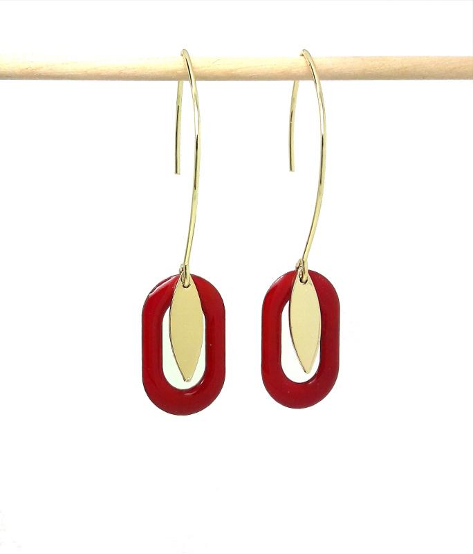 réaliser des boucles d'oreilles ovales