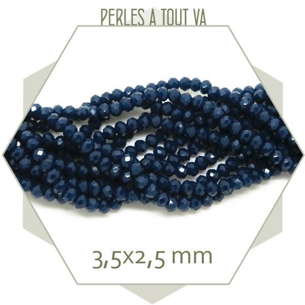 Vente perles verre donut bleu
