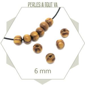 perles bois ronde