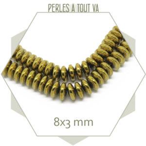 perles soucoupes hématite