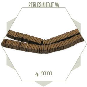 perles hématite cuivre