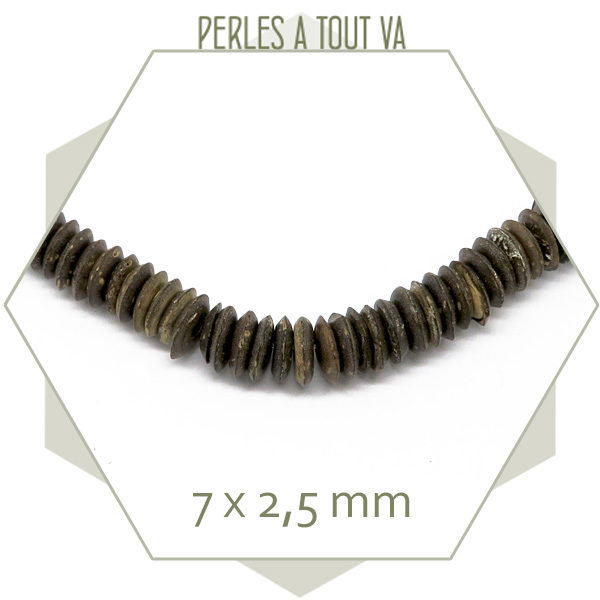 perles rondelles bois coco