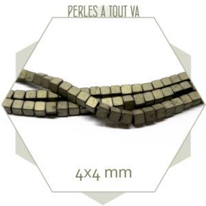 achat perles hematite cubes