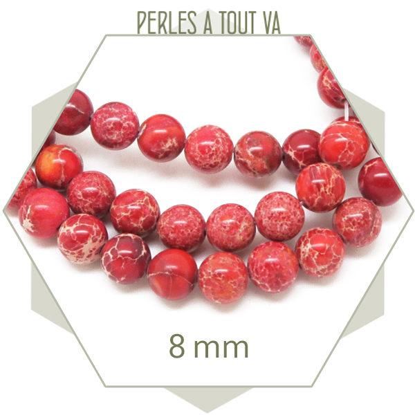 perles regalite rouge