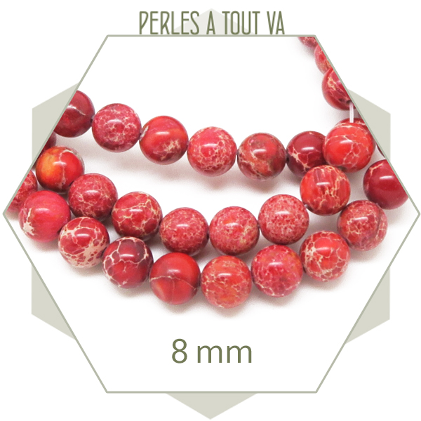 perles regalite rouge