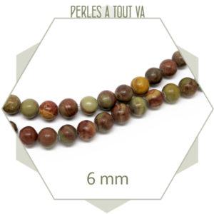 perles pierre jaspe