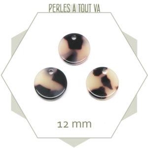 pendentif rond acétate cellulose
