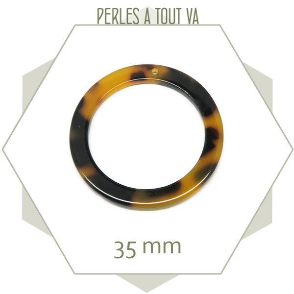 pendentif anneau écailles de tortue