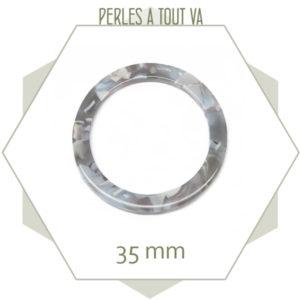 pendentif anneau acétate de cellulose