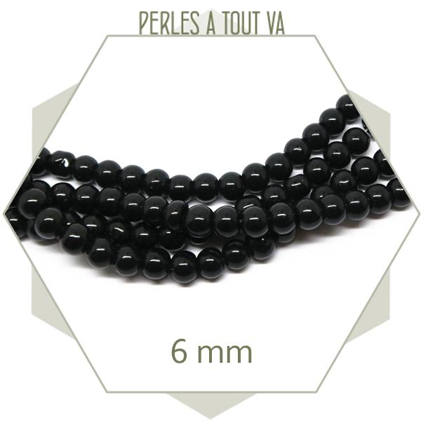 perles noires création bijoux