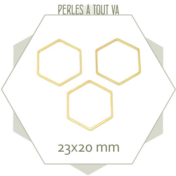 anneau hexagone doré