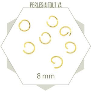 anneaux ouverts doré