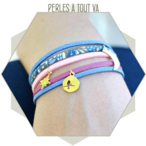 création bracelet liberty et suedine
