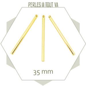 pendentifs bâtonnets doré